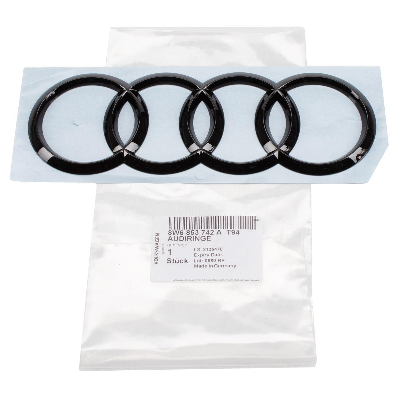 ORIGINAL Audi Emblem Logo Heckklappe A5 A5 Cabrio F5 hinten 8W6853742A T94