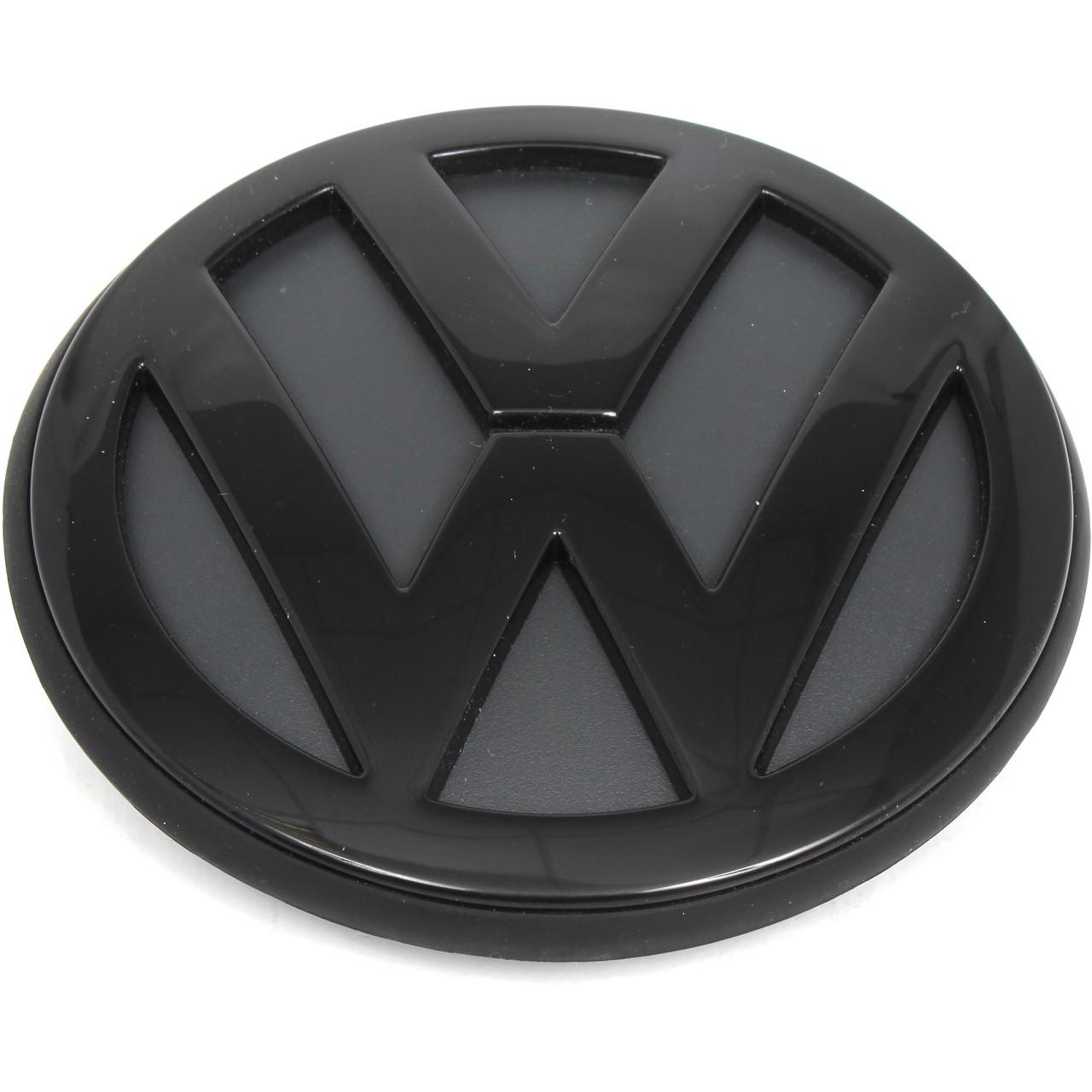 ORIGINAL VW Emblem Logo Plakette Heckklappe SCHWARZ Golf IV 1J6853630 A041