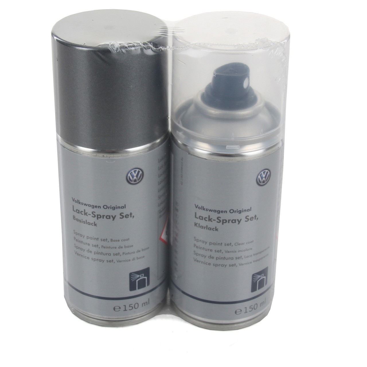 ORIGINAL VW AUDI Autolack Lackspray Set UNITEDGREY METALLIC LLS0M6A7T LA7T