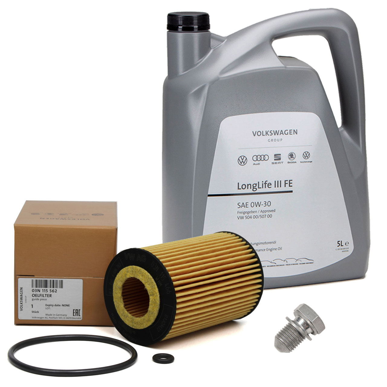5L ORIGINAL VW Motoröl Öl 0W30 LONGLIFE III FE + Ölfilter 03N115562B 1.6/2.0TDI