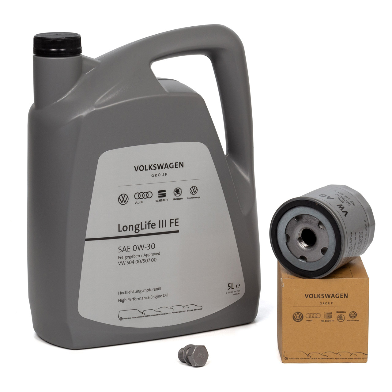 ORIGINAL VW Motoröl Öl 0W30 LONGLIFE III FE 5 L + Ölfilter 04E115561H 1.0-1.4TSI