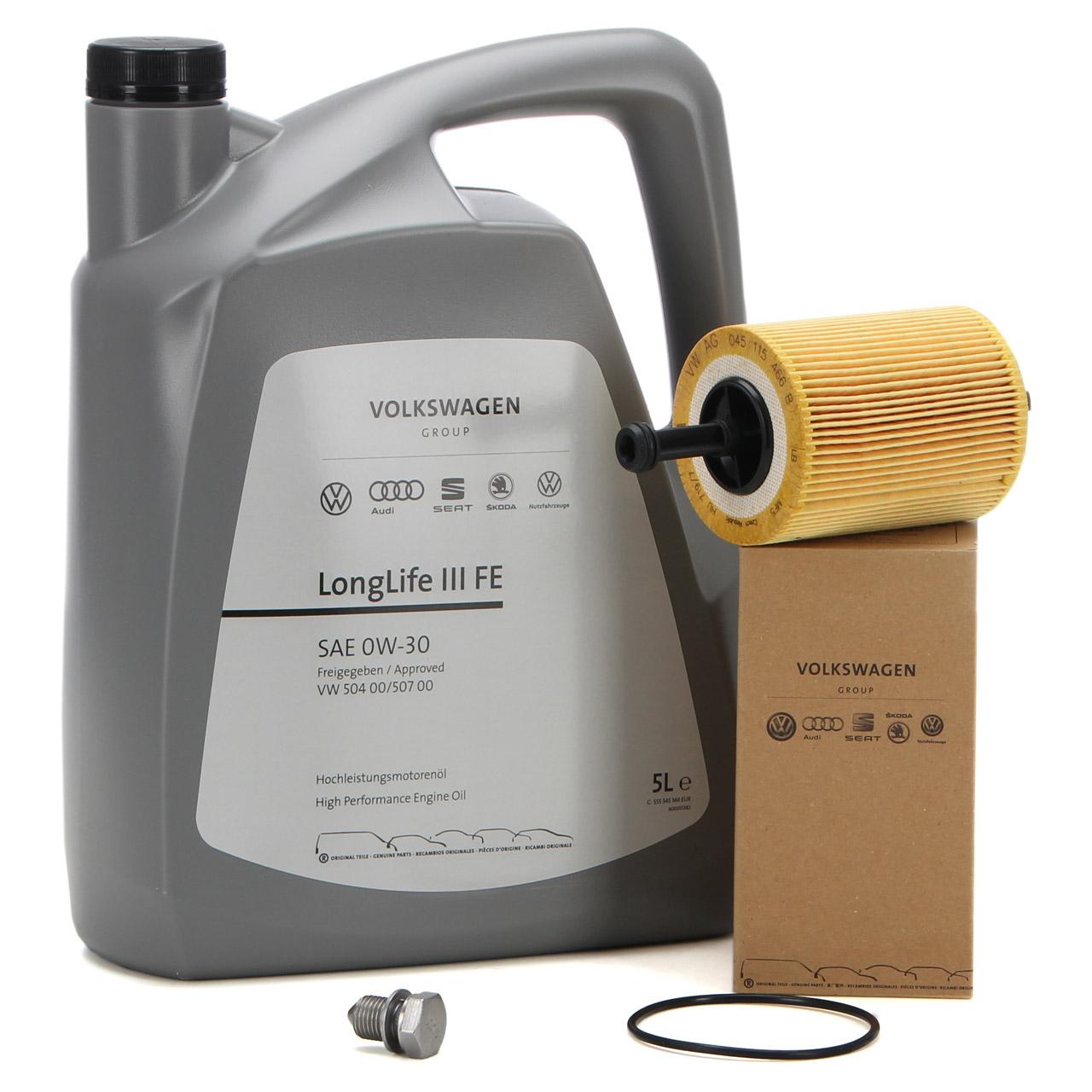 ORIGINAL VW Motoröl Öl 0W30 LONGLIFE III FE 5 L + Ölfilter 071115562C 1.2-2.5TDI