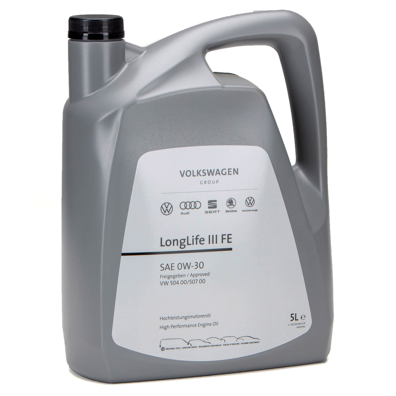 ORIGINAL VW Motoröl Öl 0W30 LONGLIFE III FE 504.00 507.00 GS55545M4 - 5 Liter