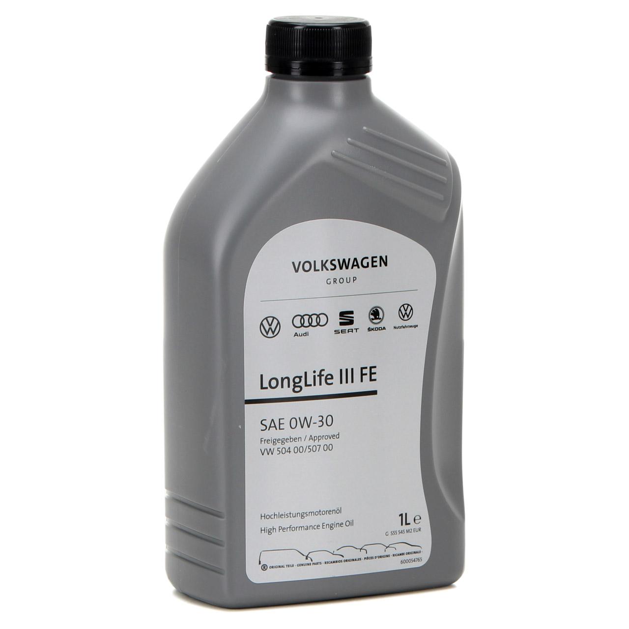 ORIGINAL VW Motoröl Öl 0W30 LONGLIFE III FE 504.00 507.00 GS55545M2 - 1 Liter