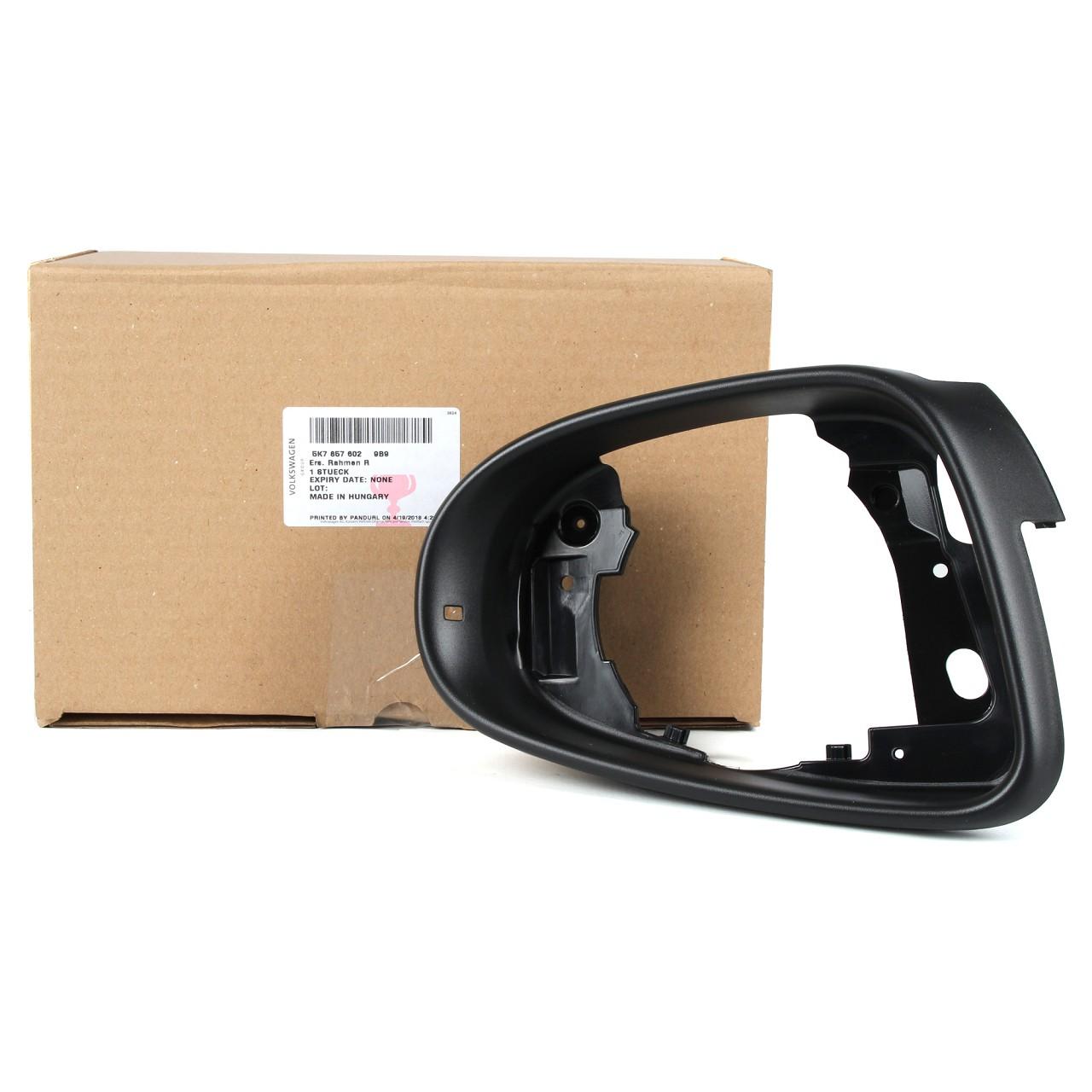 ORIGINAL VW Rahmen Blende Außenspiegel GOLF 6 TOURAN 1T3 rechts 5K78576029B9