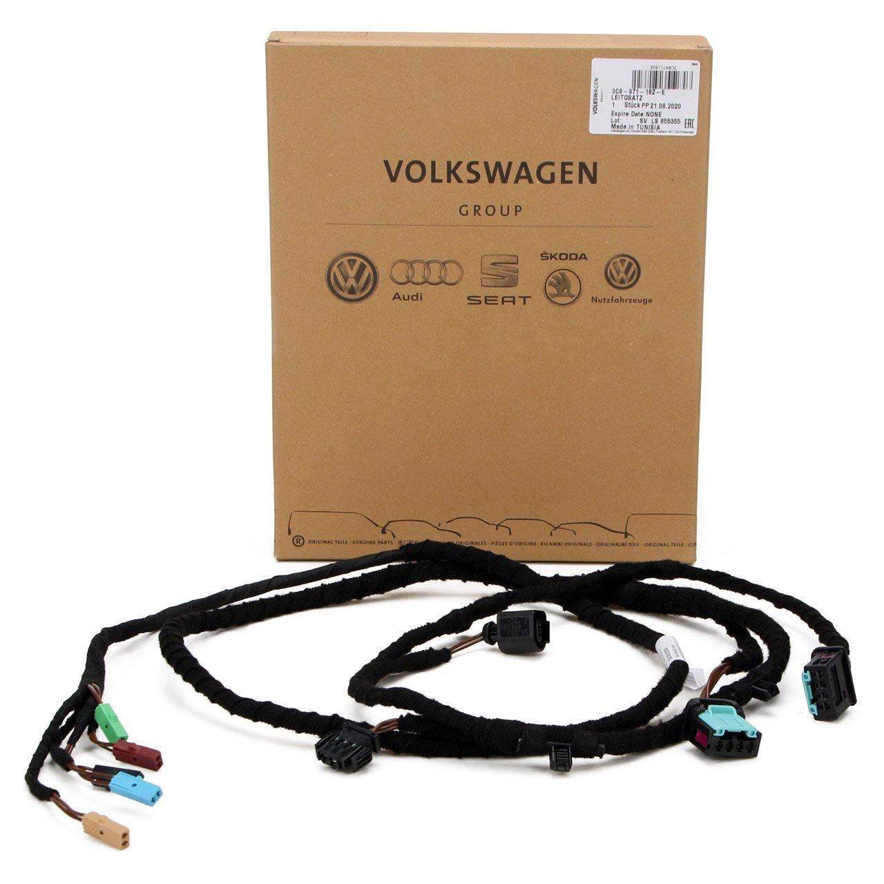 ORIGINAL VW Leitungssatz-Heckdeckel ohne Rückfahrkamera Passat CC (357) links 3C8971182E