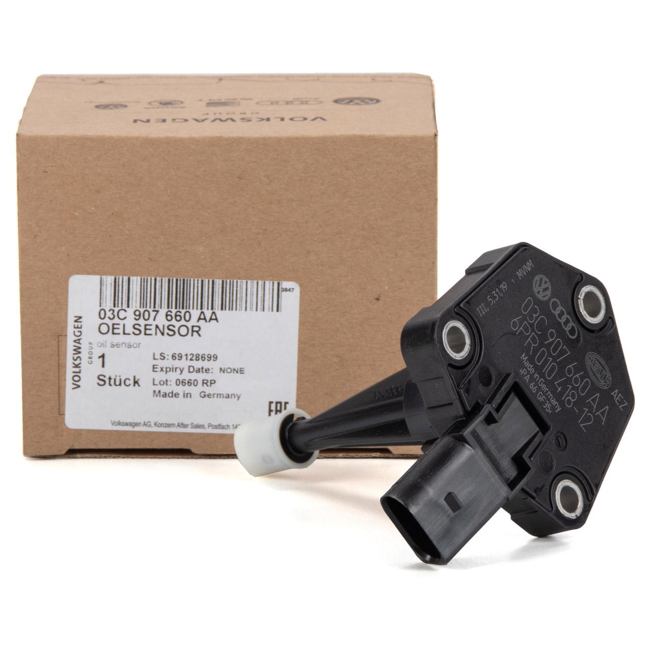 ORIGINAL VW AUDI SEAT PORSCHE Ölniveausensor Sensor Ölstand A4 B8 A6 Ibiza 4 03C907660AA