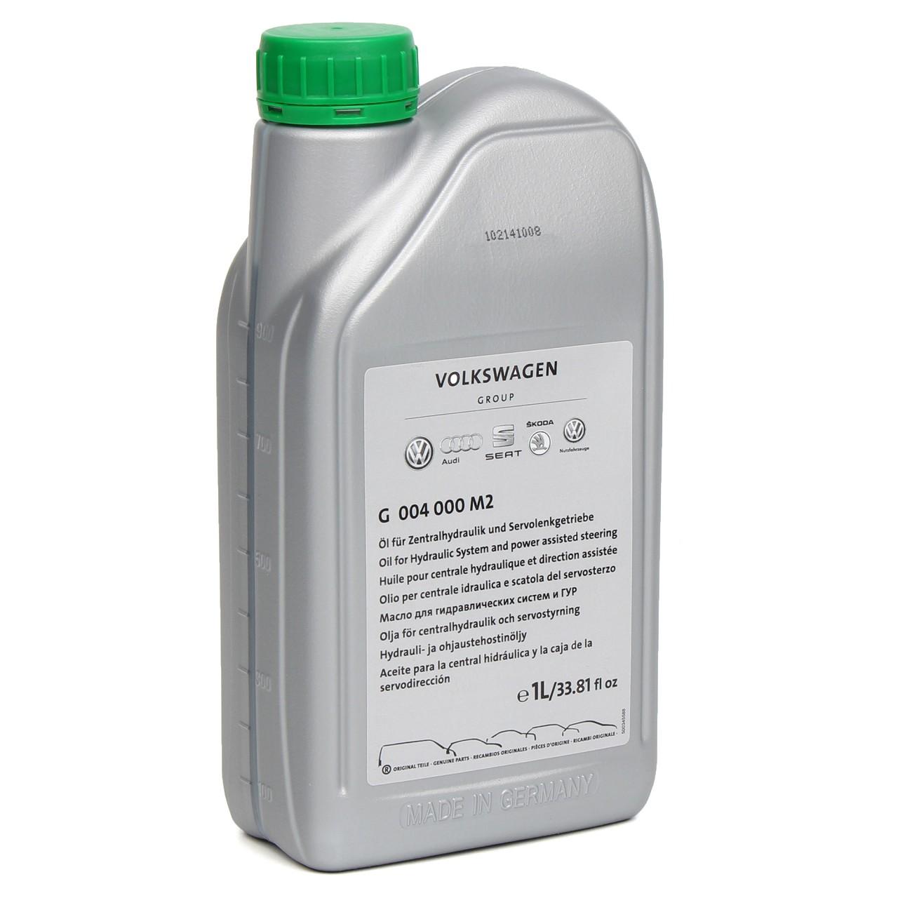 1L ORIGINAL VW AUDI Hydrauliköl Servoöl Öl Lenkflüssigkeit G004000M2 - 1 Liter