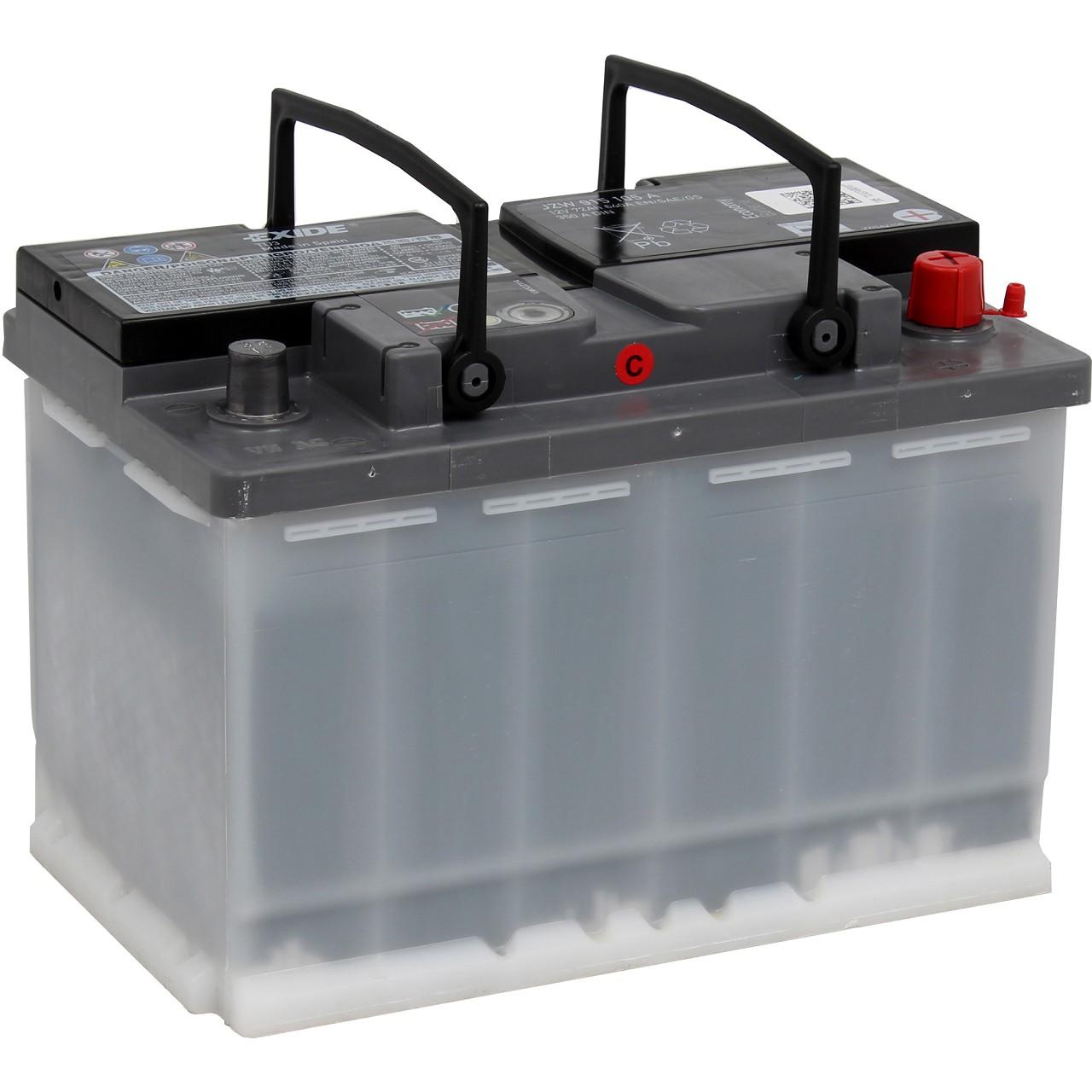 ORIGINAL VW Autobatterie Batterie Starterbatterie 12V 72Ah 350/640A JZW915105A