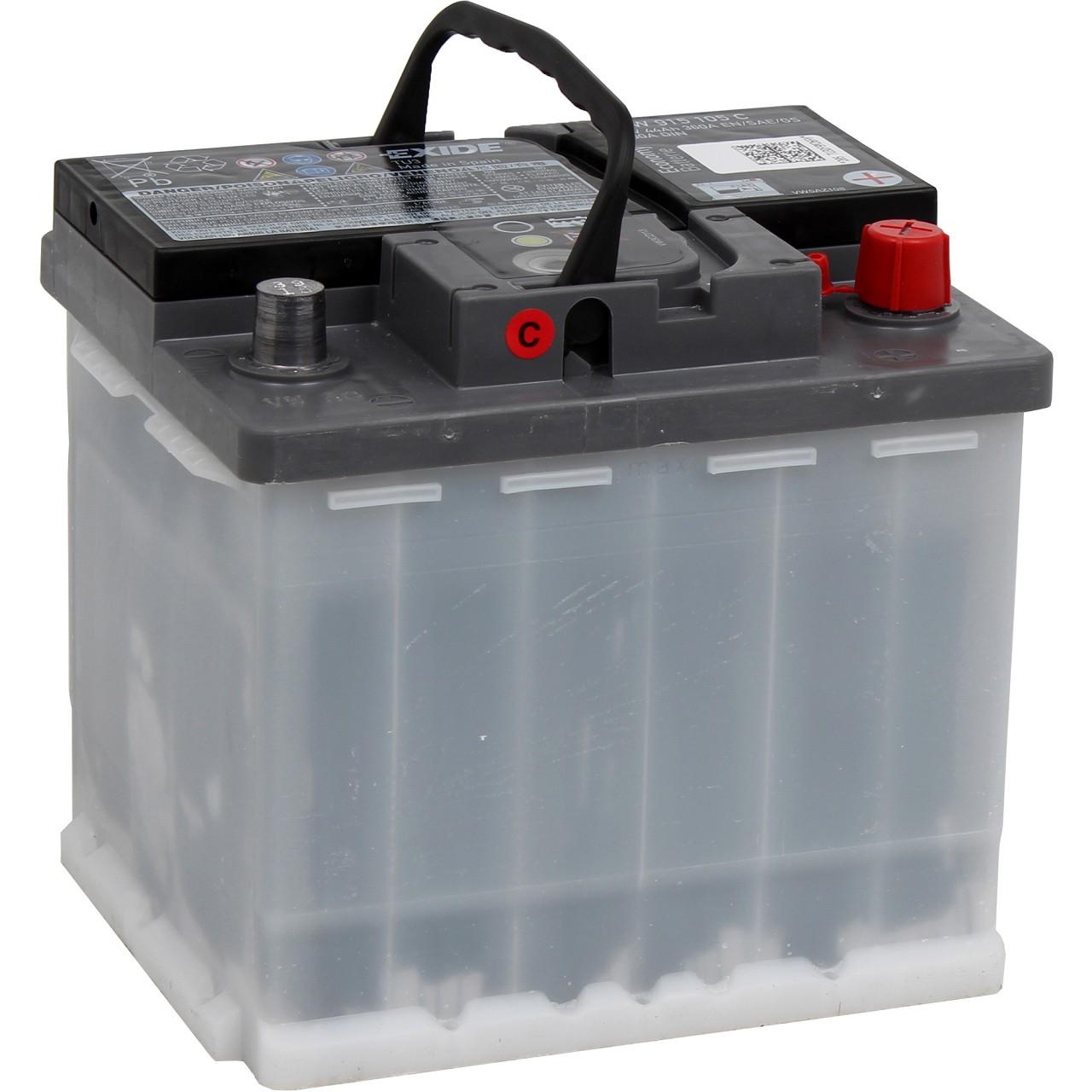ORIGINAL VW Autobatterie Batterie Starterbatterie 12V 44Ah 220/360A JZW915105C