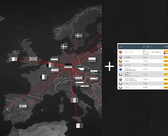 Europakarte sw